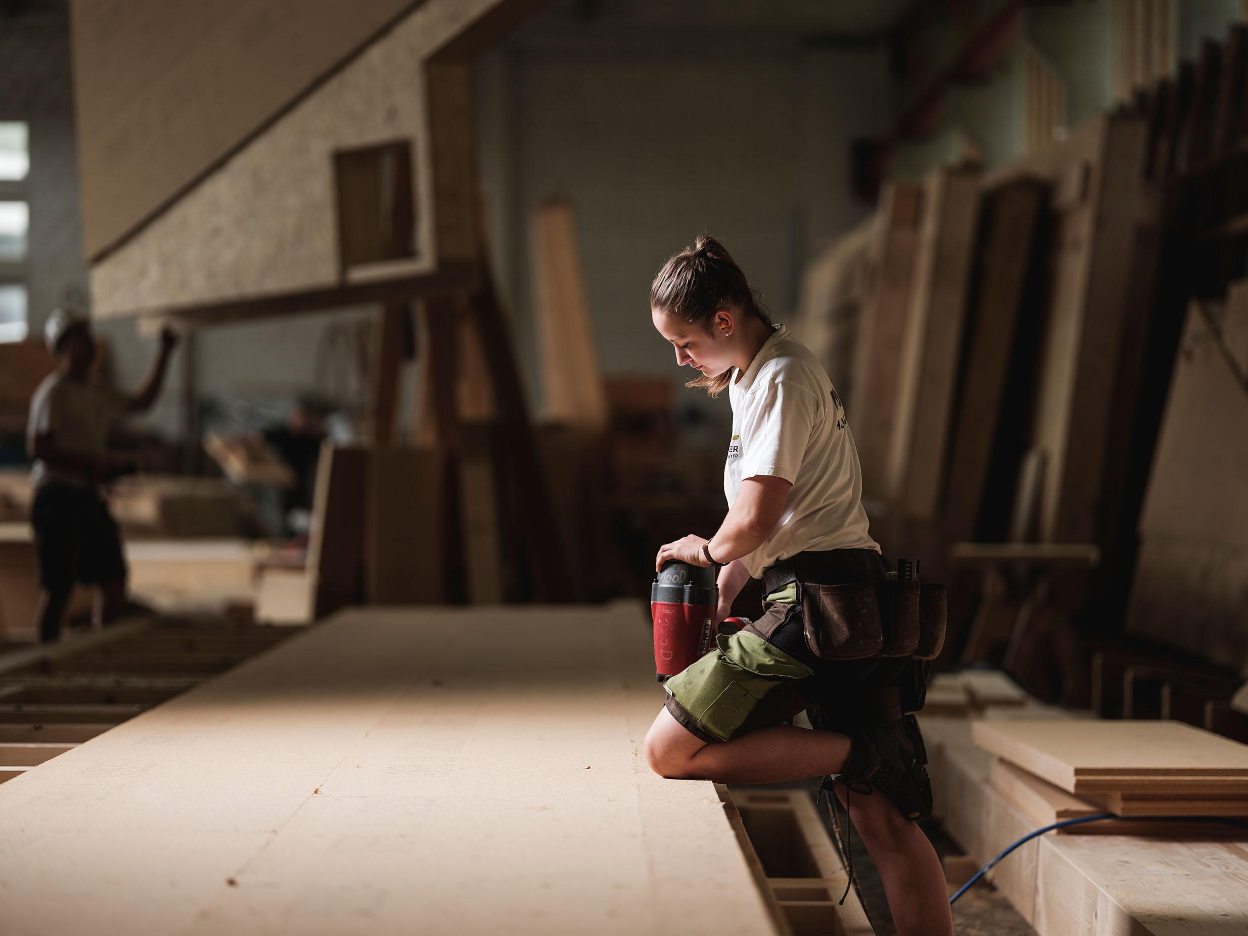 Buchner Holzbau bei der Arbeit