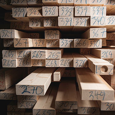 Buchner Produktion Holz Nummeriert