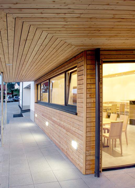 Buchner Zubau Holzfassade