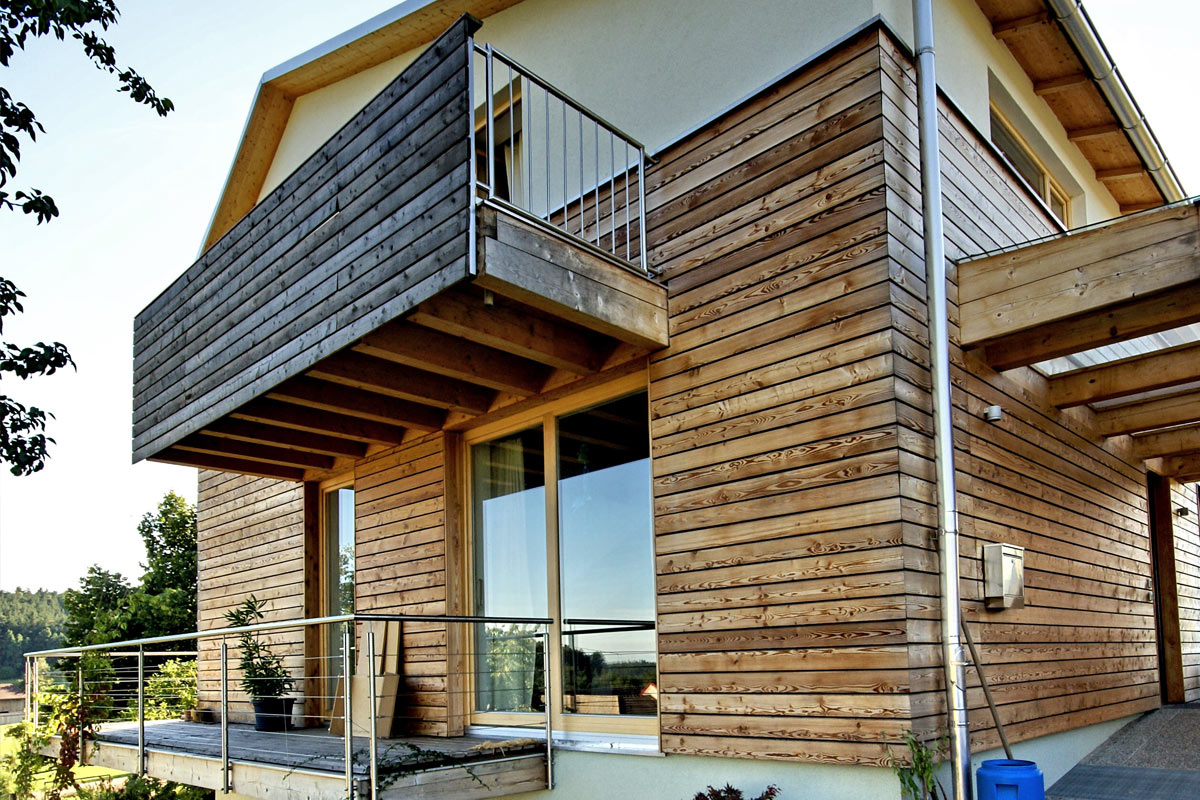 Buchner Holzbau Zubau Fassade