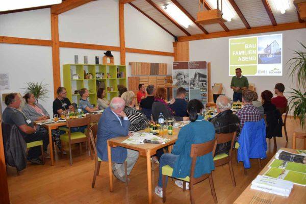Baufamilienabend Buchner September Vortrag