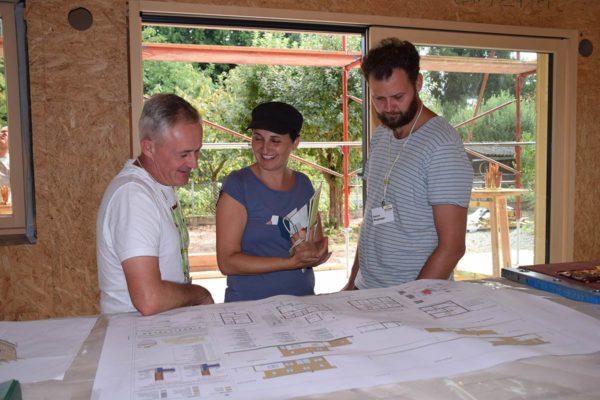 Buchner Baustellenbesichtigung Bauplan Architekt